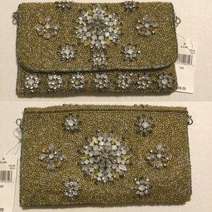 G-LISH floral Embellished clutch